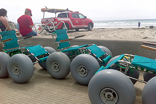 San Diego's Wheelchair Program Helps Riders Enjoy The Sand