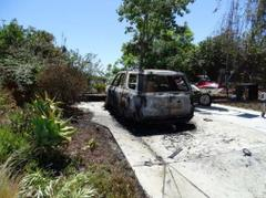 Authorities Search For Suspect Involved In Vehicle Arson In Vista
