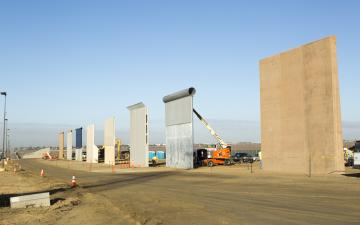U.S. Customs And Border Protection Completes Construction Of Border Wall Prototypes