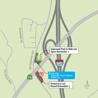 Improved State Route 76 Park And Ride Lot Reopens