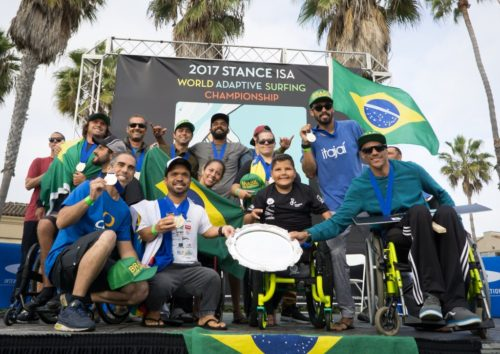 Brazil Crowned World Champion Stance ISA World Adaptive Surfing Championship