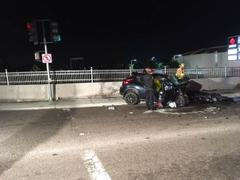 Driver Dies After Vehicle Crashes Into Concrete Barrier Wall