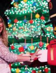 Actress Hilary Duff Lights Lego Christmas Tree At Legoland California Resort