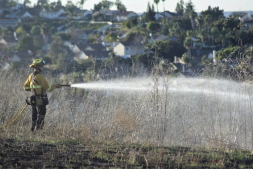 Brush Fire Breaks Out In Oceanside