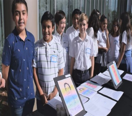 High Tech Middle School Students Tell Stories Of Cancer Survivors Through Art
