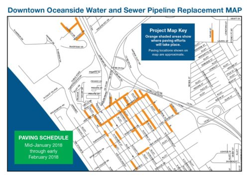 Downtown Oceanside Water And Sewer Pipeline Replacement Project Nears Completion