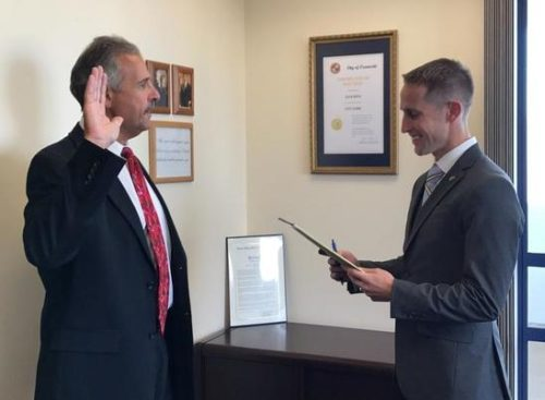 New Oceanside Mayor Sworn-In Office