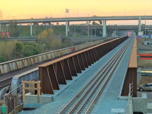 New 900-Foot Bridge Over San Diego River Opens To Rail Traffic