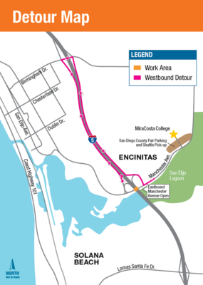 Westbound Manchester Avenue To Close Saturday For Construction
