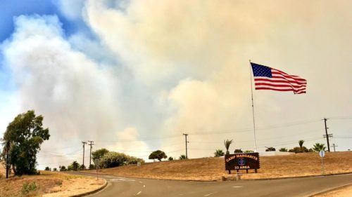 Camp Pendleton Brush Fire 50% Contained