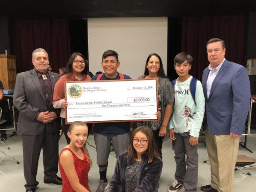 Barona Tribe Awards Tierra Del Sol Middle School An Education Grant