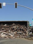 Overturned Truck Spills Diesel Fuel Near Vista Off-Ramp
